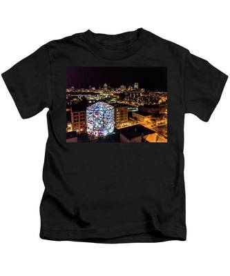 Water Tower Skyline Kids T-Shirt