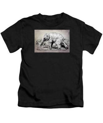 Baby Elephant Walk Kids T-Shirt