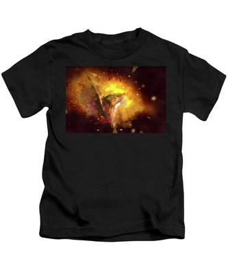 Butterfly Color Explosion. Kids T-Shirt