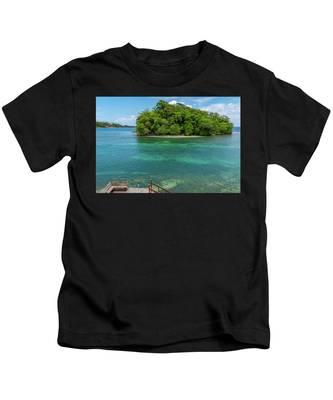 Monkey Island In Portland Jamaica Kids T-Shirt
