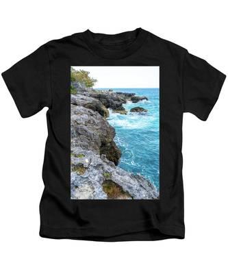 Negril Jamaica Cliffs Kids T-Shirt