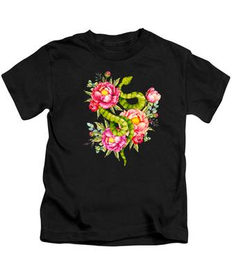 Peonies Kids T-Shirts