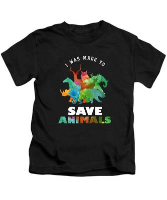 """/""""Busy Saving All The Animals/"""" Medium Front Quote Women/'s T-shirt"""