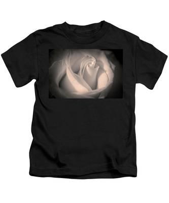 Silky Pastel Rose Kids T-Shirt