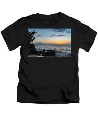 Sunset Afterglow In Negril Jamaica Kids T-Shirt