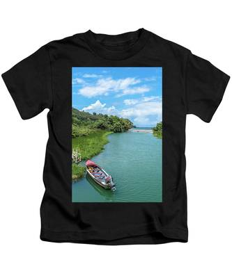Tour Boat In Jamaica Kids T-Shirt