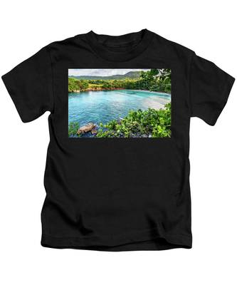 Vantage Views In Portland Jamaica Kids T-Shirt
