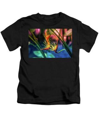 Vibrant Jungle Bird Kids T-Shirt