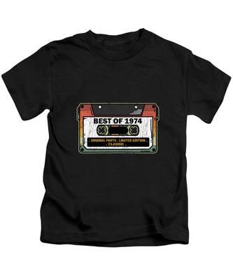 Best of 1974 Birthday I Cassette Gift Vintage Maglietta