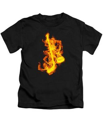 Fire Helmet Kids T-Shirts