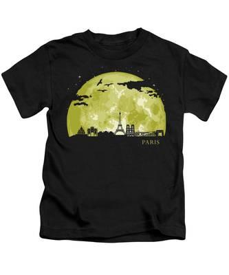 Paris Skyline Kids T-Shirts