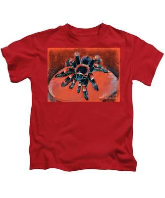 Brachypelma Smithi Redknee Tarantula  Kids T-Shirt