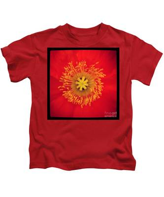 Kids T-Shirt featuring the photograph Iceland Poppy by Bridgette Gomes