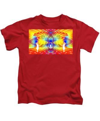 Kids T-Shirt featuring the digital art Cosmic Spiral Ascension 56 by Derek Gedney
