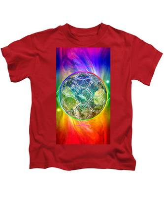 Tetra64 Polarity Earth Kids T-Shirt by Derek Gedney