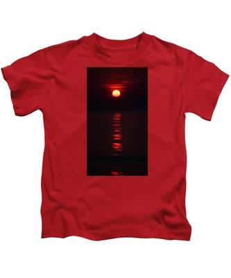 Burnt Orange Sunrise Kids T-Shirt