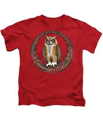 Celtic Owl Kids T-Shirt