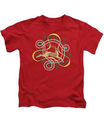 Celtic Reindeer Knots Kids T-Shirt