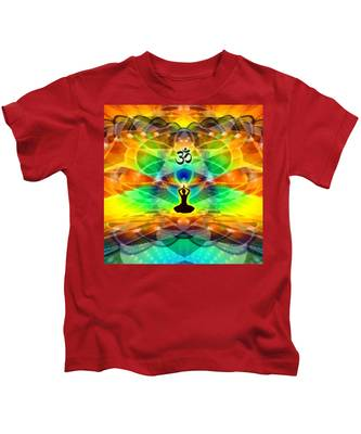 Cosmic Spiral 69 Painted Kids T-Shirt by Derek Gedney