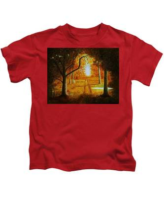 Fall In The Woods Kids T-Shirt