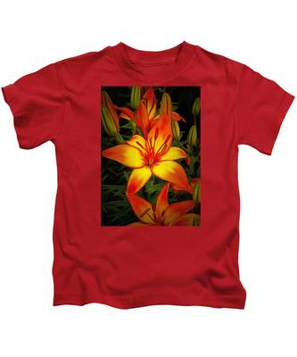 Golden Lilies Kids T-Shirt
