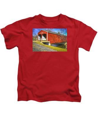 Roberts Covered Bridge Kids T-Shirt