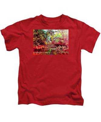 Rocky Rainbow River Kids T-Shirt