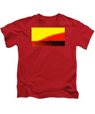 Sailboat Horizon Poster Kids T-Shirt