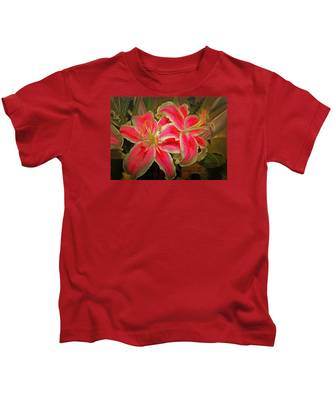 Star Gazer Lilies Kids T-Shirt