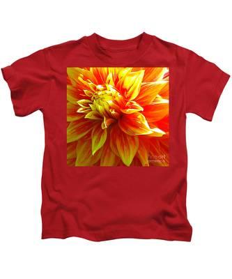 The Heart Of A Dahlia #2 Kids T-Shirt