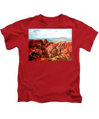 Uluru Viewed From Kata Tjuta Kids T-Shirt
