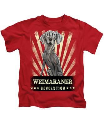 Weimaraner Kids T-Shirts