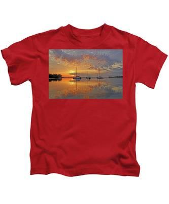 Tranquility Bay - Florida Sunrise Kids T-Shirt