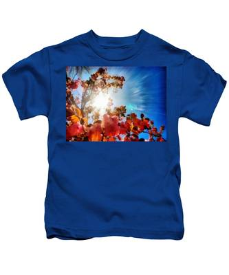 Kids T-Shirt featuring the painting Blooming Sunlight by Derek Gedney