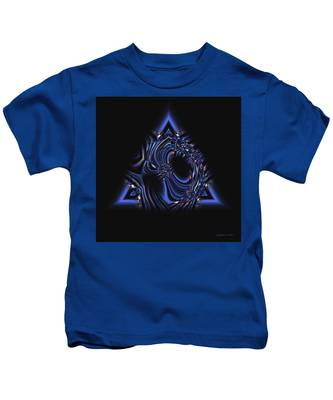 Blue Triangle Jewel Abstract Kids T-Shirt