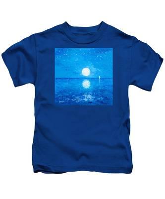Moon And Stars Kids T-Shirt