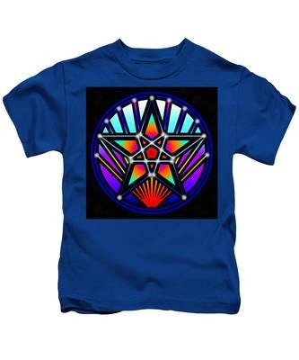 Bending Time Kids T-Shirt by Derek Gedney