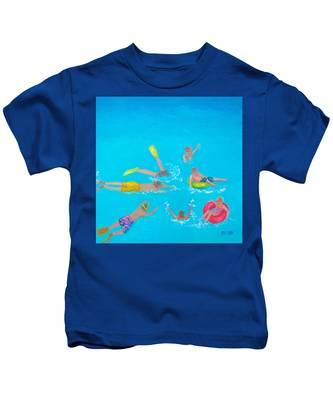 Beach Decor 'holiday Splash' By Jan Matson Kids T-Shirt