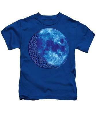 Celtic Blue Moon Kids T-Shirt