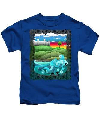 Celtic Castle Tor Kids T-Shirt