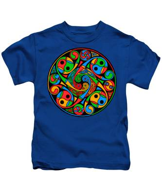 Celtic Stained Glass Spiral Kids T-Shirt