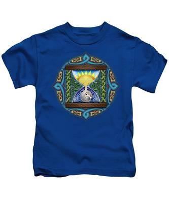 Celtic Sun Moon Hourglass Kids T-Shirt