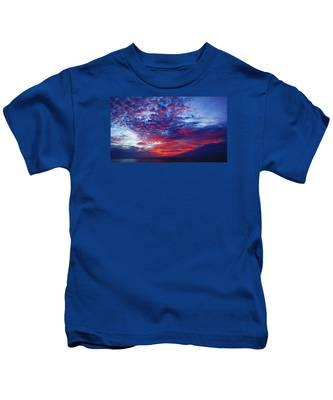 Hand Of God At Sunrise Kids T-Shirt