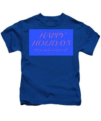 Happy Holidays - Day 7 Kids T-Shirt