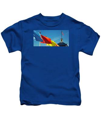 Redondo Beach Flags Kids T-Shirt