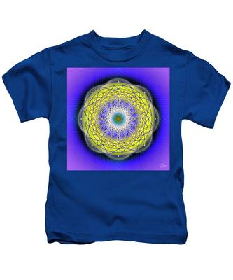 Kids T-Shirt featuring the digital art Sacred Geometry 655 by Endre Balogh