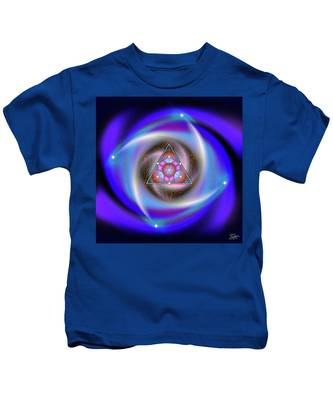 Kids T-Shirt featuring the digital art Sacred Geometry 687 by Endre Balogh