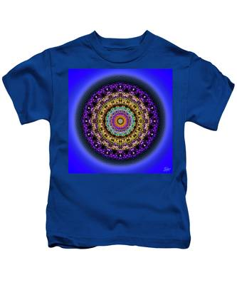Kids T-Shirt featuring the digital art Sacred Geometry 708 by Endre Balogh