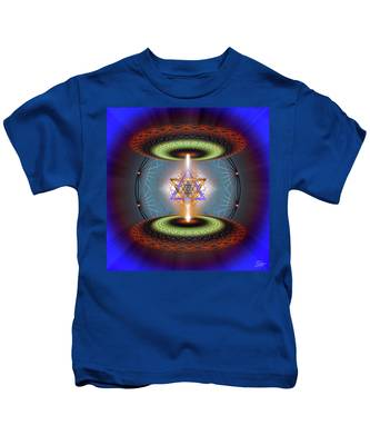 Kids T-Shirt featuring the digital art Sacred Geometry 718 by Endre Balogh