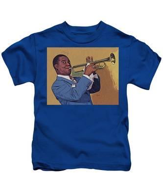 Satchmo Kids T-Shirt by Charlie Roman